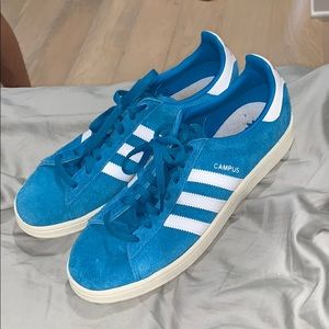 blue adidas campus shoes